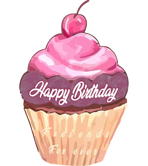 Happy Birthday Cake for Friend