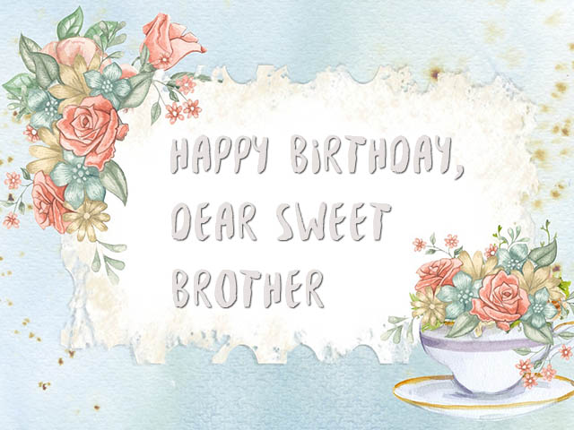 Sweet Happy Birthday Wishes for Brother