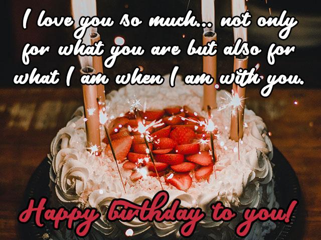 Strawberry Happy Birthday Cake for Boyfriend